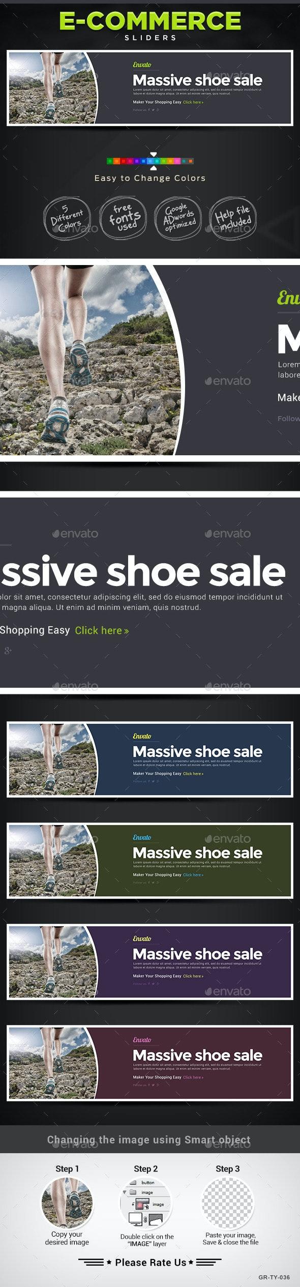 E-Commerce Sliders - Sliders & Features Web Elements