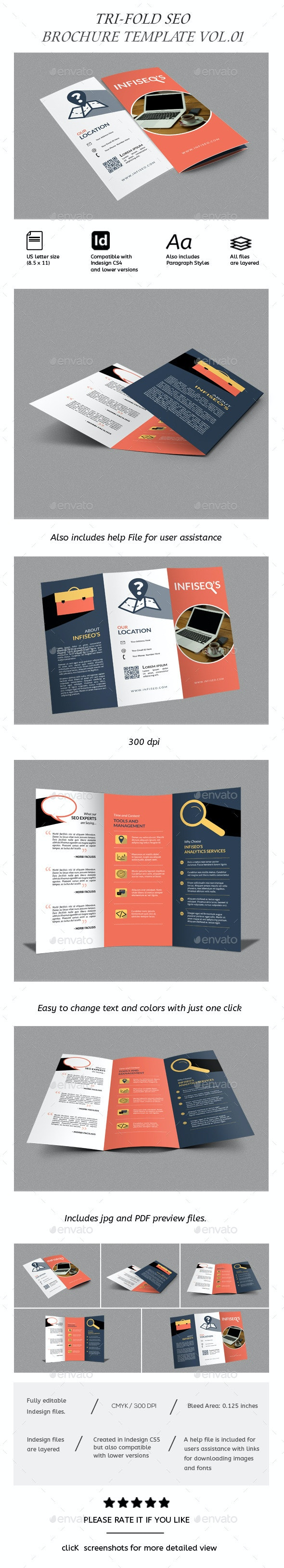 Seo Brochure TriFold  - Corporate Brochures