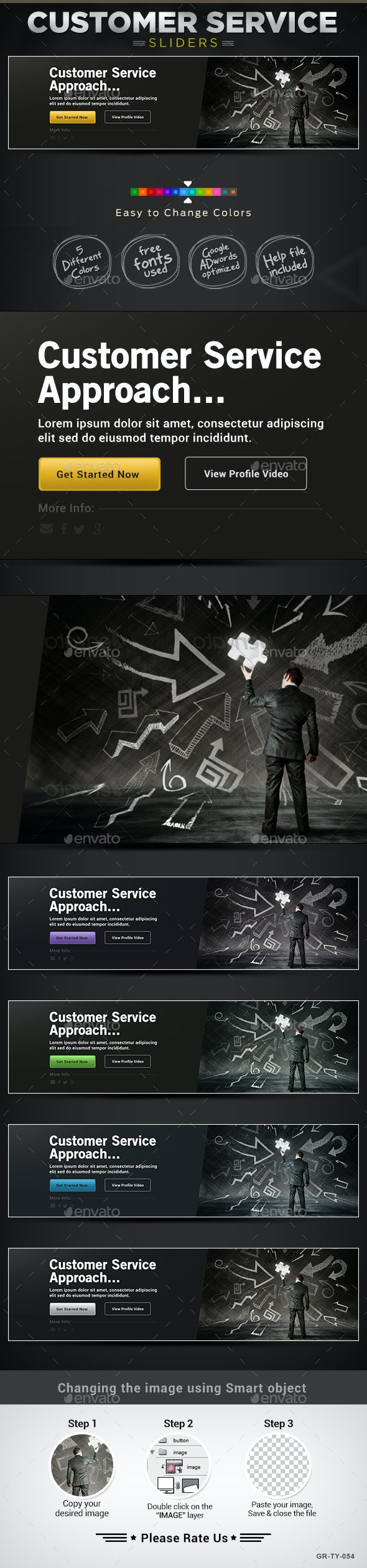 Service & Support Sliders - Sliders & Features Web Elements