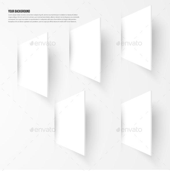Vector Background Abstract Fractal. Shadow Design - Web Elements Vectors