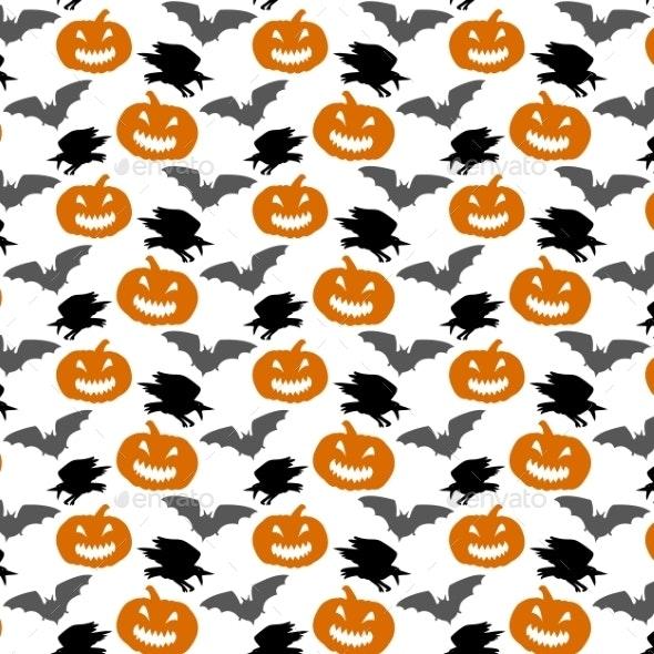 Seamless Halloween Background - Halloween Seasons/Holidays