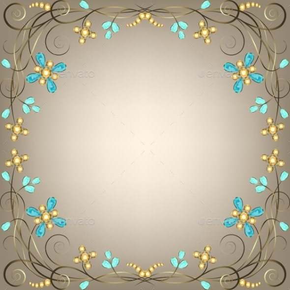 Jewelry Pattern Border - Backgrounds Decorative
