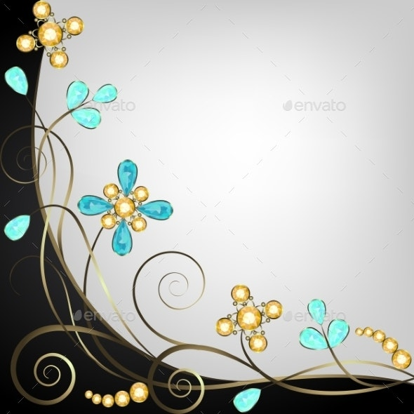 Jewelry Pattern Border - Backgrounds Decorative