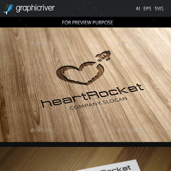 Heart Rocket Logo