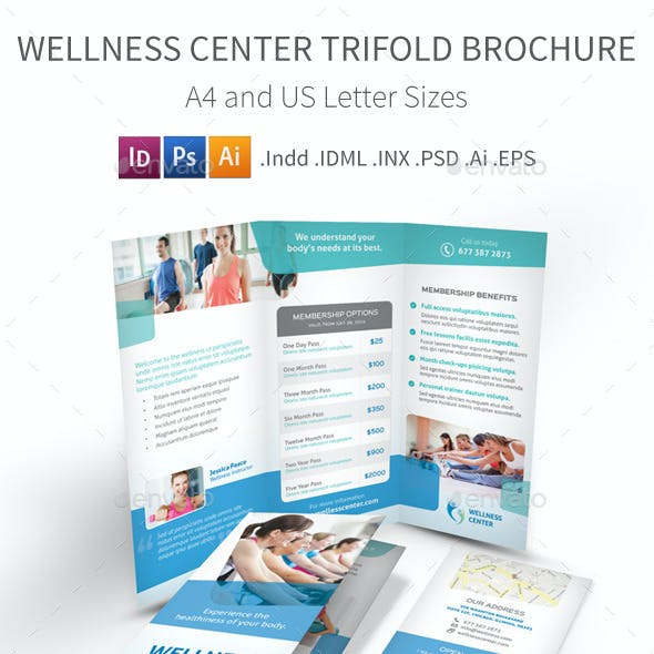 Wellness Center Trifold Brochure