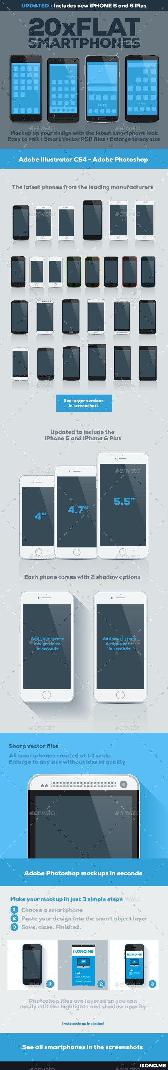 20 Flat Smartphones - Mobile Displays
