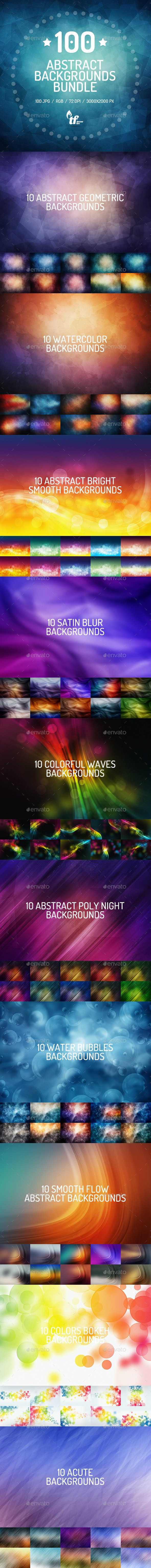 100 Abstract Backgrounds Bundle - Backgrounds Graphics