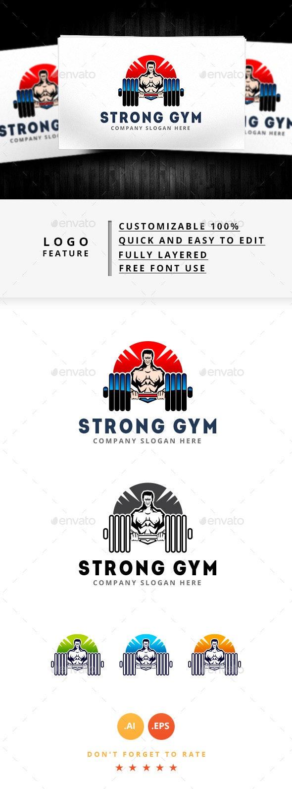 Strong Gym Logo - Humans Logo Templates