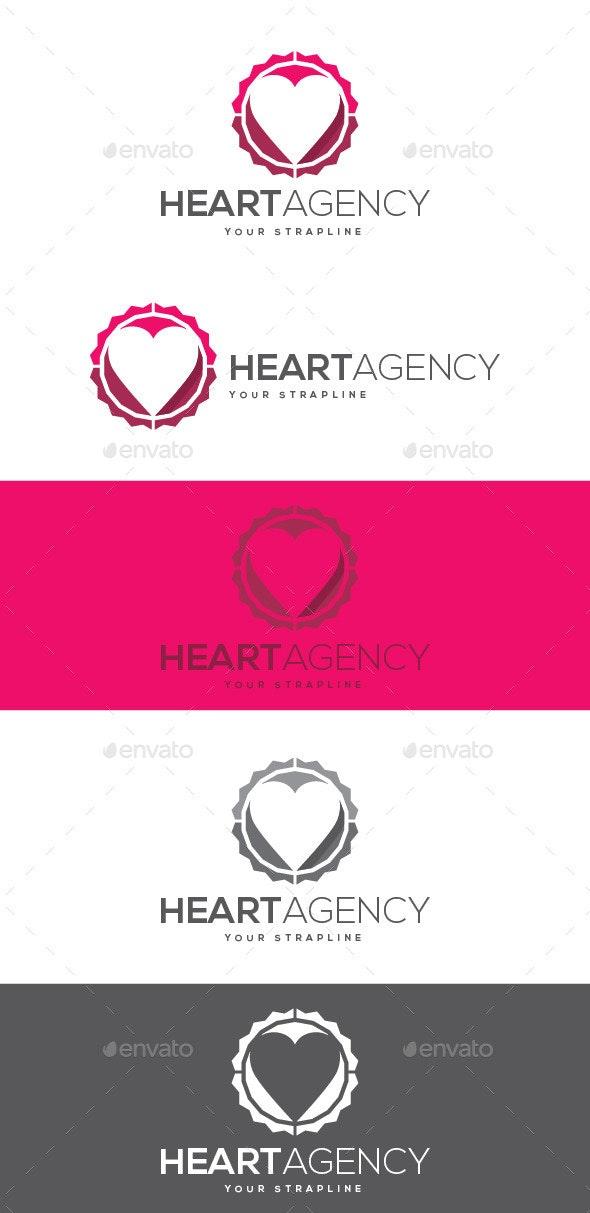 Heart Agency Logo - Symbols Logo Templates