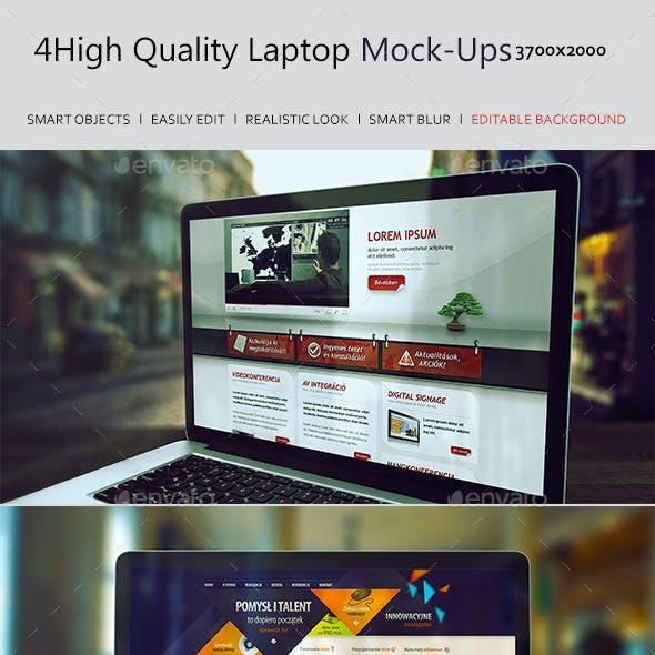 4 Laptop Screen Mockups v2