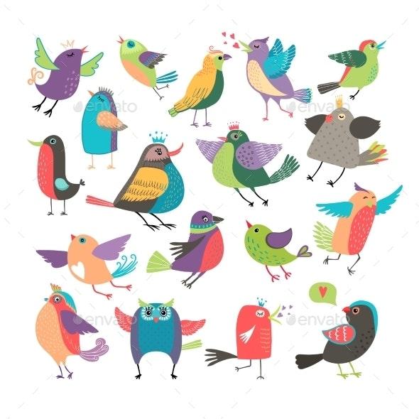 Cartoon Birds - Animals Characters
