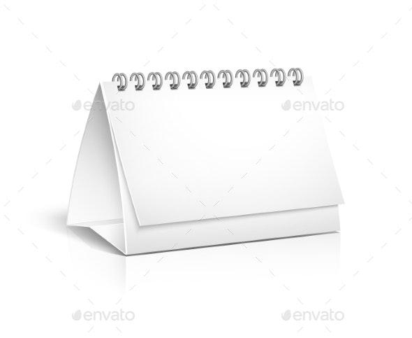 Blank Spiral Desktop Calendar - Man-made Objects Objects