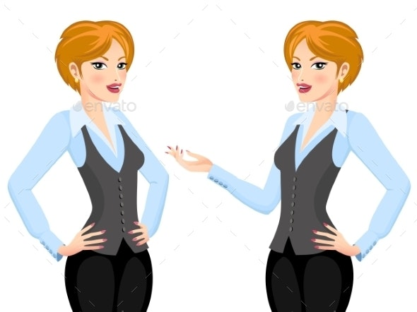 Business Woman making Proposal - People Characters