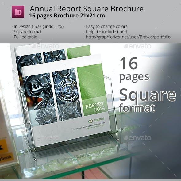 Annual Square InDesign Brochure