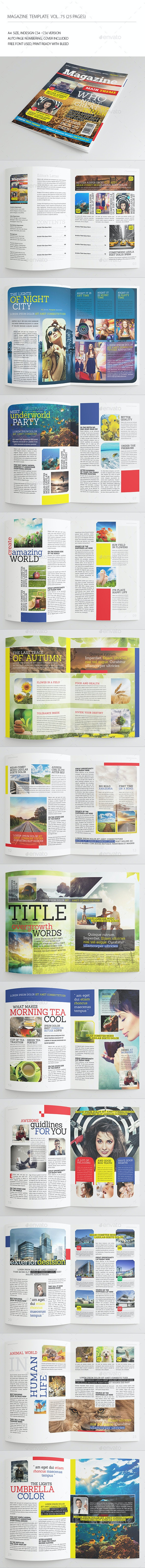 25 Pages Modern Magazine Vol75 - Magazines Print Templates