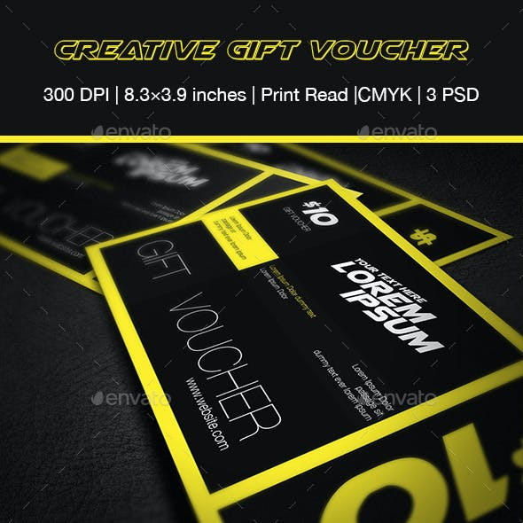 Creative Gift Voucher 01