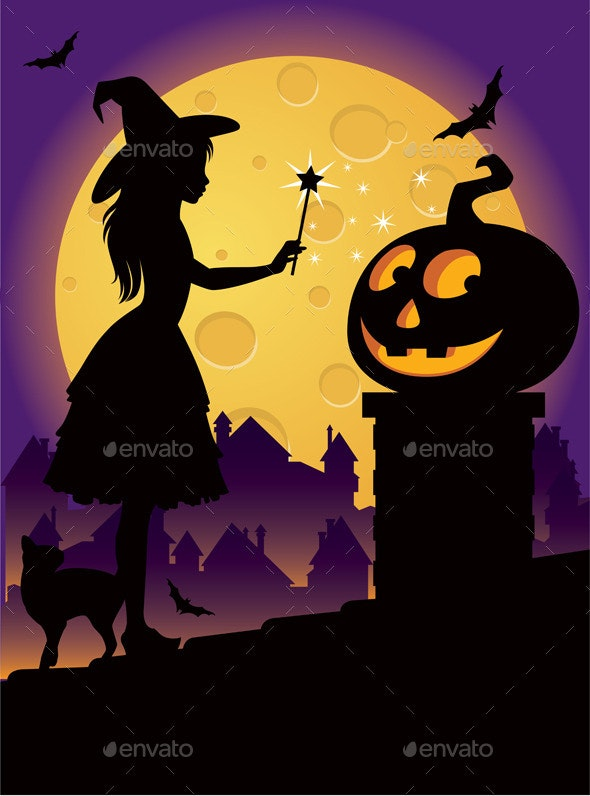 The Little Witch on the Roof - Halloween Seasons/Holidays