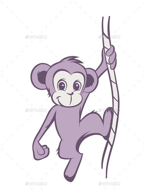 Cartoon Monkey - Animals Characters