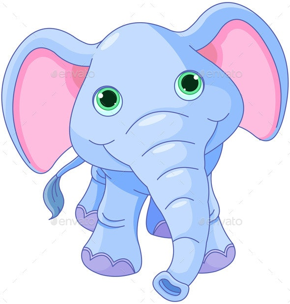 Cute Elephant - Animals Characters
