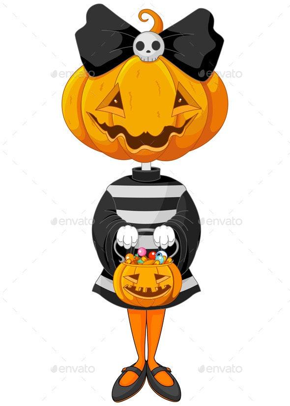 Halloween Trick or Treating Girl - Halloween Seasons/Holidays