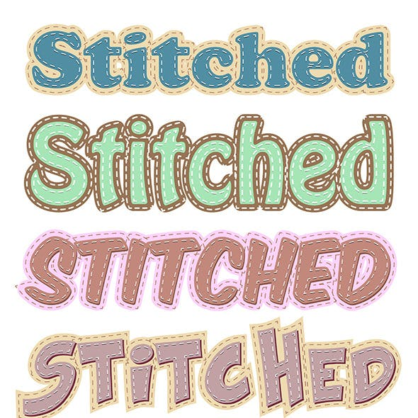 Stiched Vector Styles