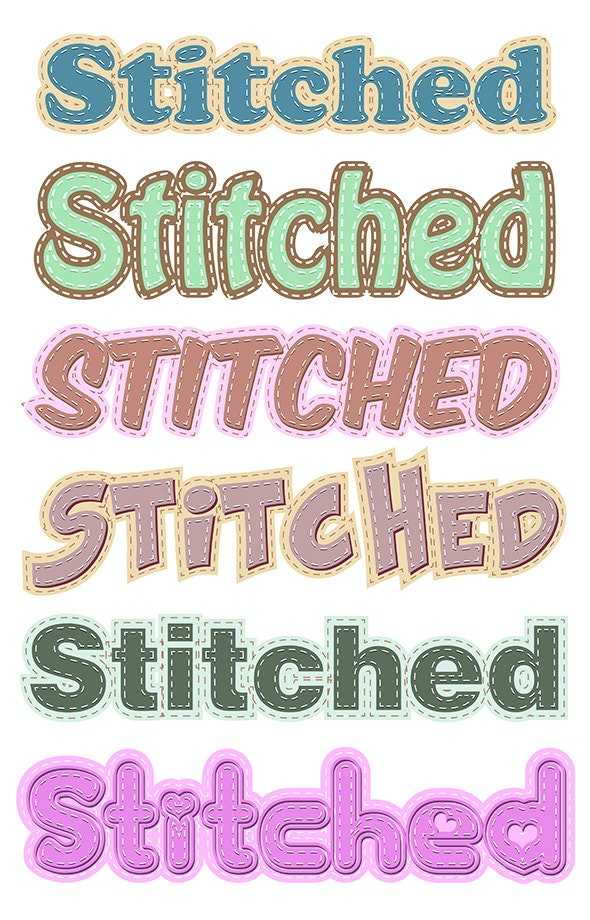Stiched Vector Styles - Styles Illustrator