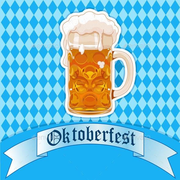 Oktoberfest Beer Glass - Seasons/Holidays Conceptual
