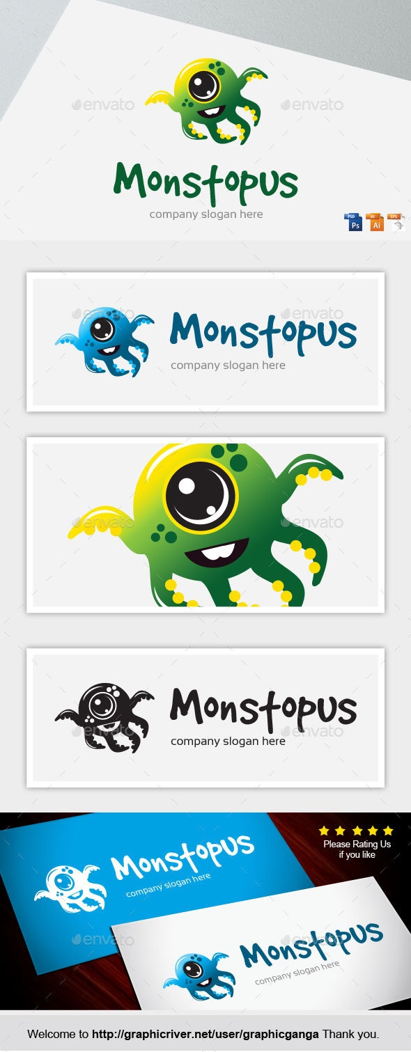 Monstopus - Abstract Logo Templates
