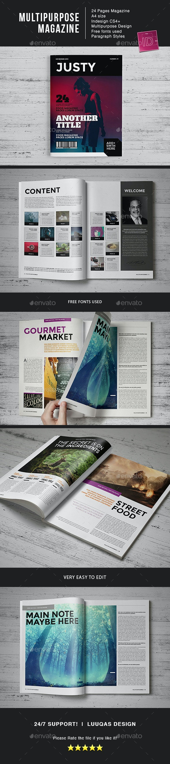 Multipurpose MGZ - Magazines Print Templates