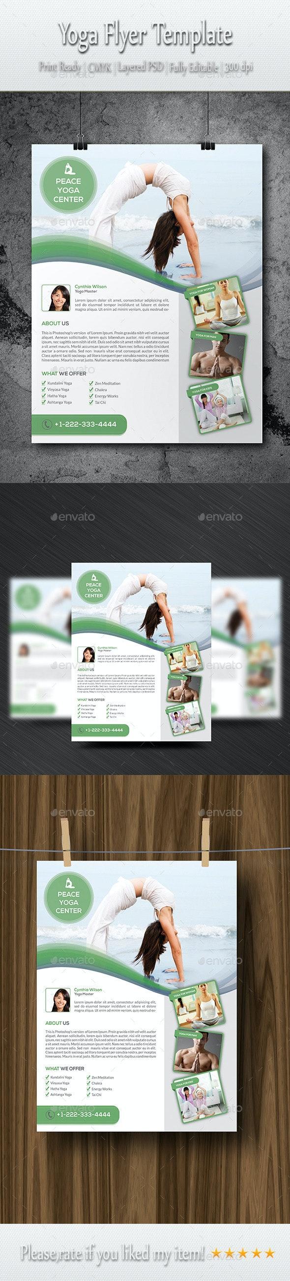 Yoga Flyer Template - Commerce Flyers