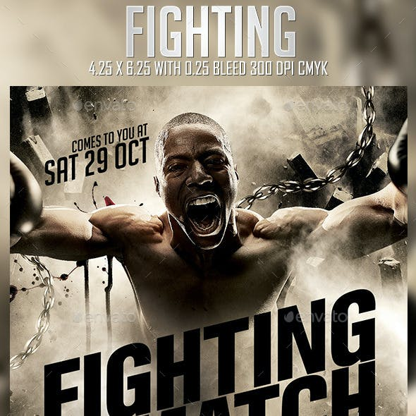 Fighting Flyer Template