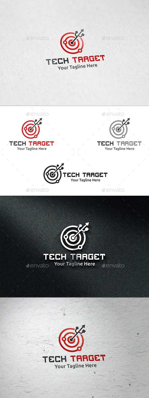 Tech Target - Logo Template - Symbols Logo Templates