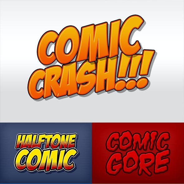 Comic Book and Cartoon Photoshop Styles Pack