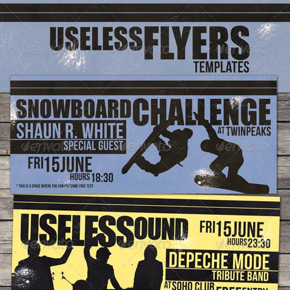 Useless - Grunge Flyer Template