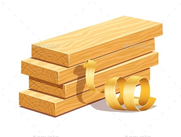 Rasped Wooden Boards and Filings Sawdusts - Organic Objects Objects