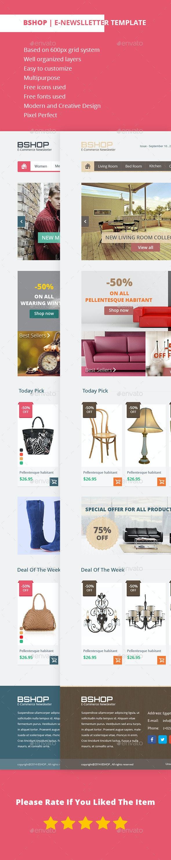 Bshop | E-newsletters template - E-newsletters Web Elements