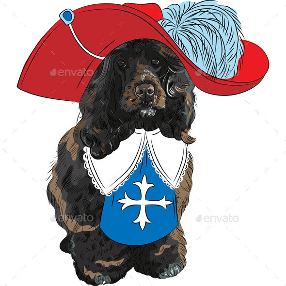 Portuguese Water Dog Musketeer - Animals Characters