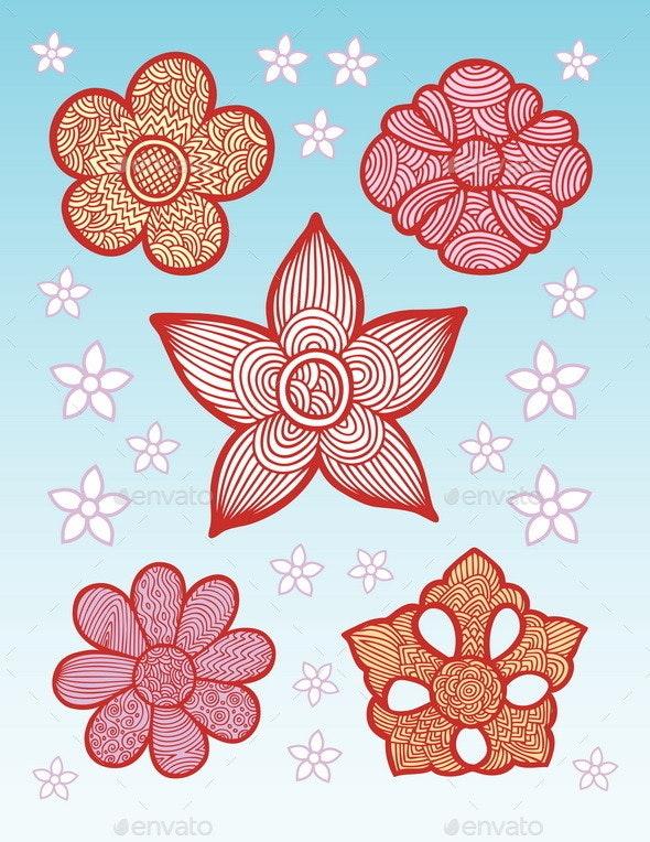 Flowers Line Pattern Decoration - Patterns Decorative