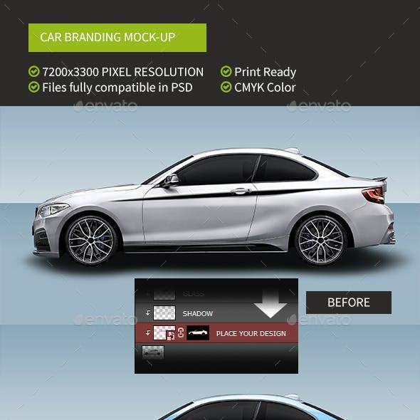 Easy Mockup For Sport Car Branding