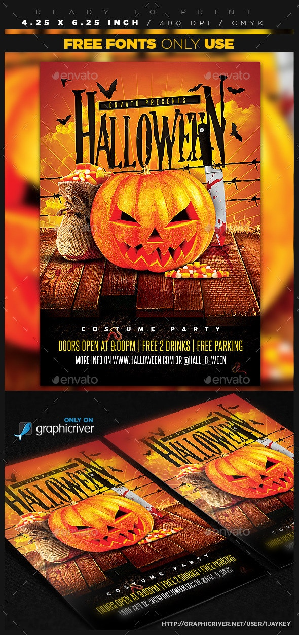 Halloween Party Night Template - Holidays Events