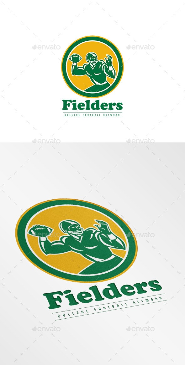 Fielders College Football Network Logo - Humans Logo Templates