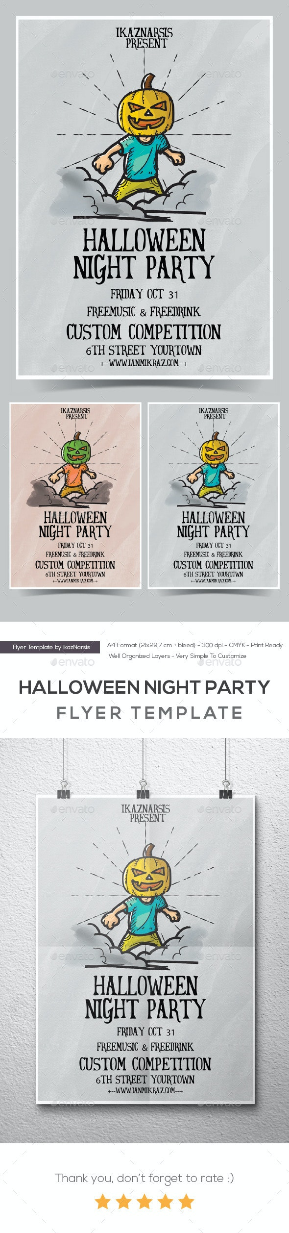 Halloween Party Night - Events Flyers