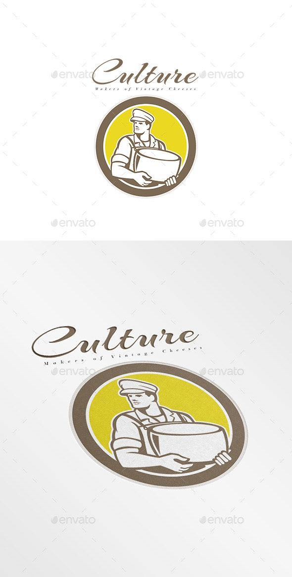 Culture Makers of Vintage Cheese Logo - Humans Logo Templates