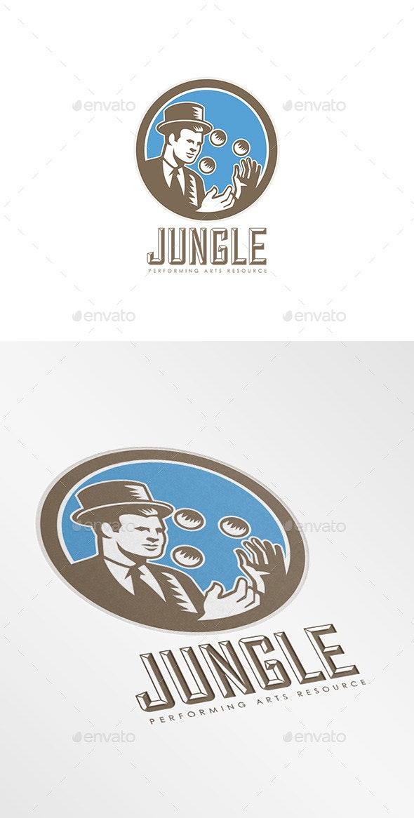 Jungle Performing Arts Logo - Humans Logo Templates