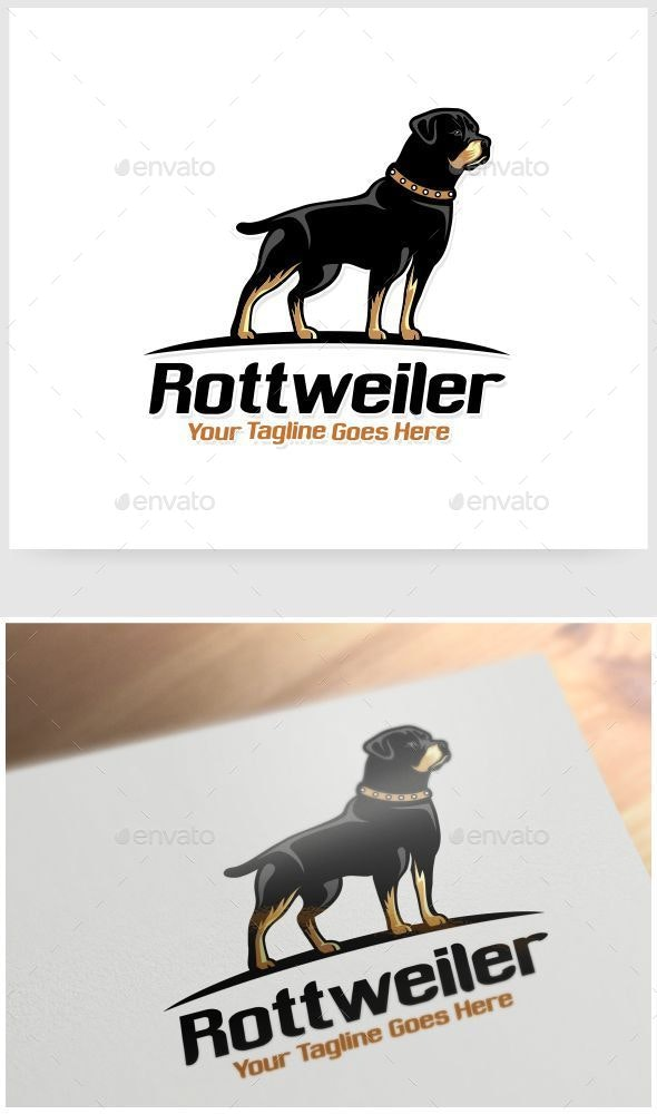 Rottweiler Logo Template - Animals Logo Templates