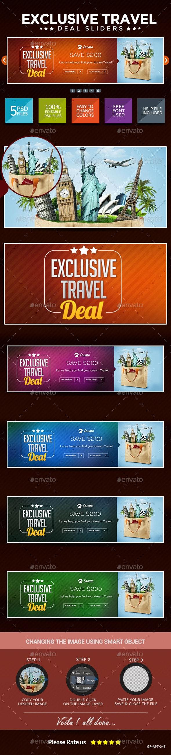 Travel Deal Sliders - Sliders & Features Web Elements