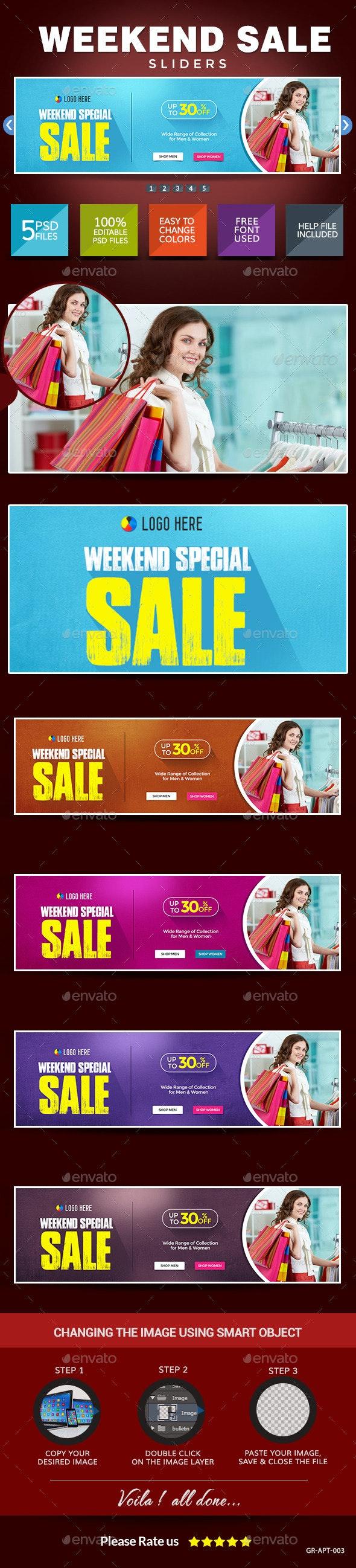 Weekend Sale Sliders - Sliders & Features Web Elements