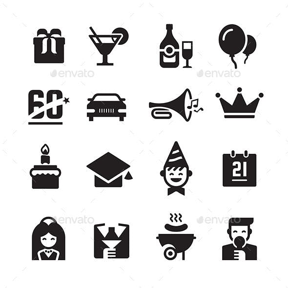Party and Celebration Icons