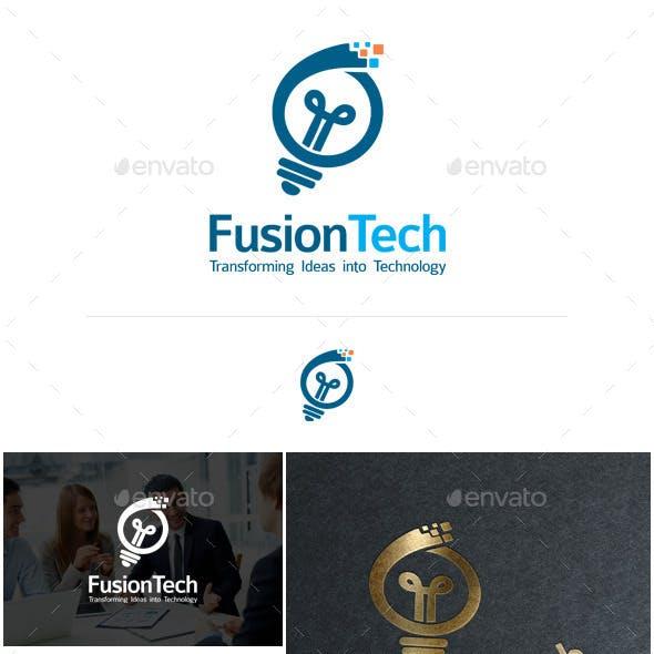 FusionTech Logo Template