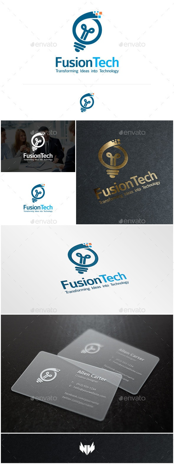 FusionTech Logo Template - Objects Logo Templates